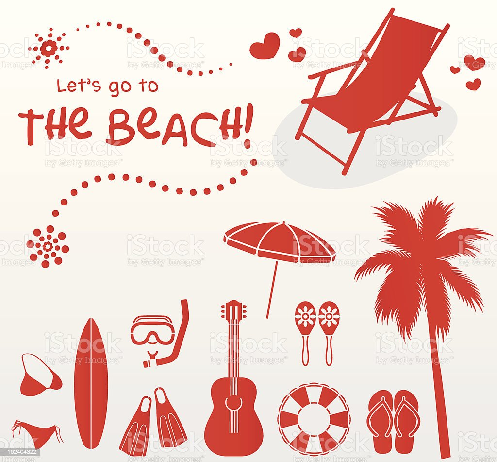 let's go to the beach! royalty-free stock vector art