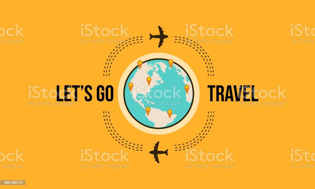 Lets go Travel-Design-Stil-Vektor-illustration Lizenzfreies lets go traveldesignstilvektorillustration stock vektor art und mehr bilder von auto