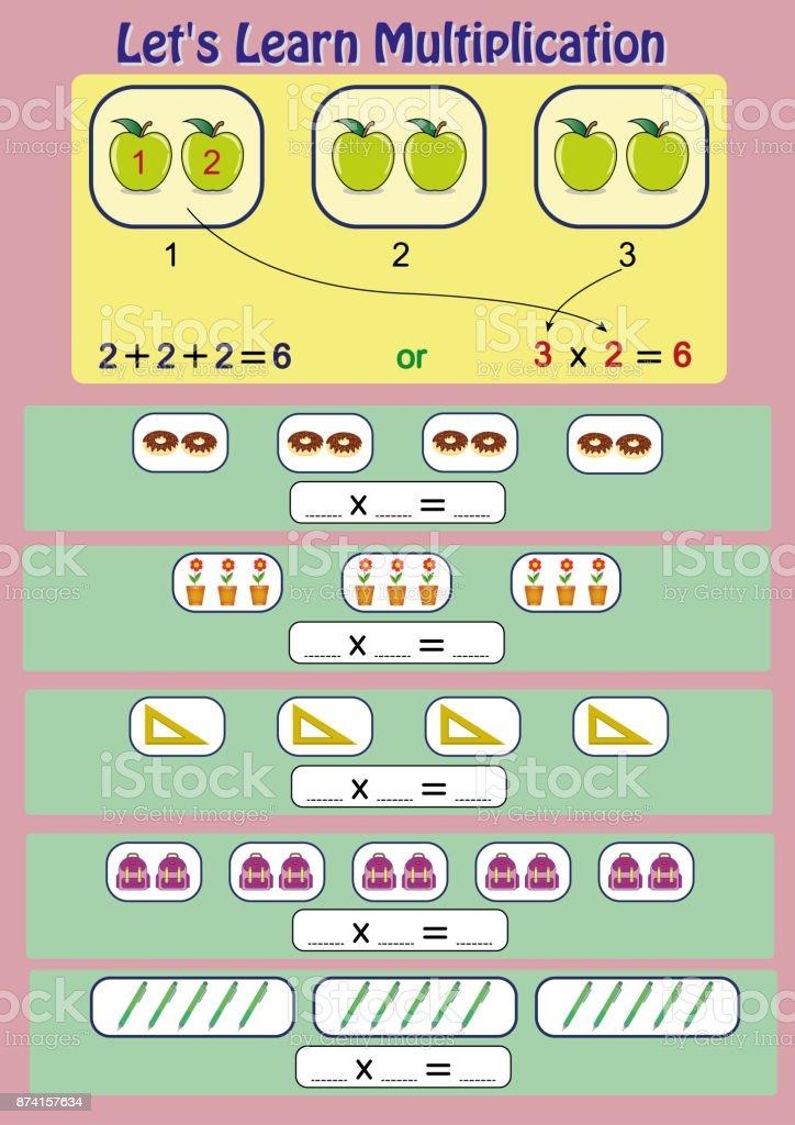 Ilustración de Vamos A Aprender La Multiplicación La Actividad ...