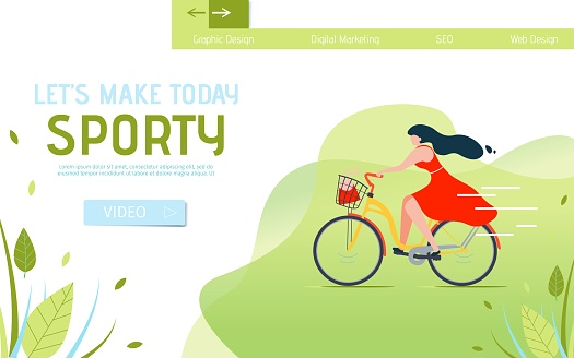 Lets Make Today Sporty Lettering Landing Page