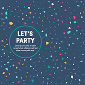 Modern design layout template for let's party cover design for web banner or print advertising with abstract background.