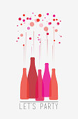Let's party, vector illustration.