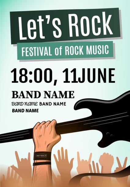 Let's rock festival poster. Vector illustration - Illustration vectorielle