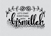Let's start everything with bismillah