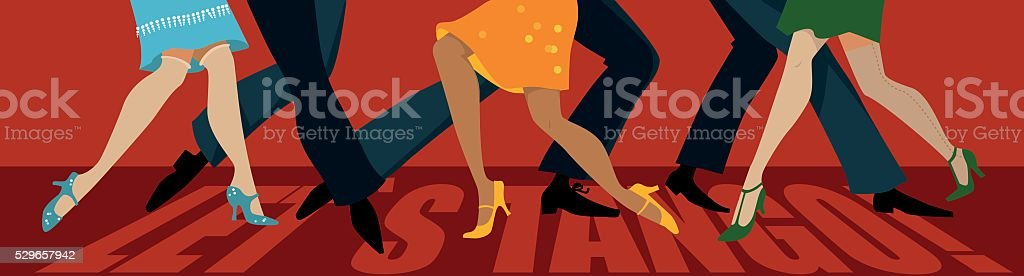 Let's tango! vector art illustration