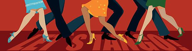 lassen sie sich von den tango! - ballsäle stock-grafiken, -clipart, -cartoons und -symbole