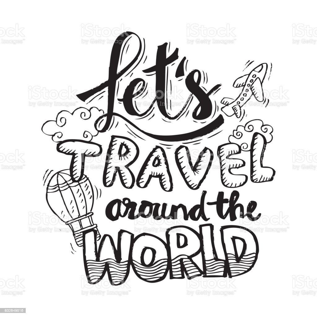 Lets travel around the world greeting card or tshirt print poster lets travel around the world greeting card or t shirt print poster design m4hsunfo