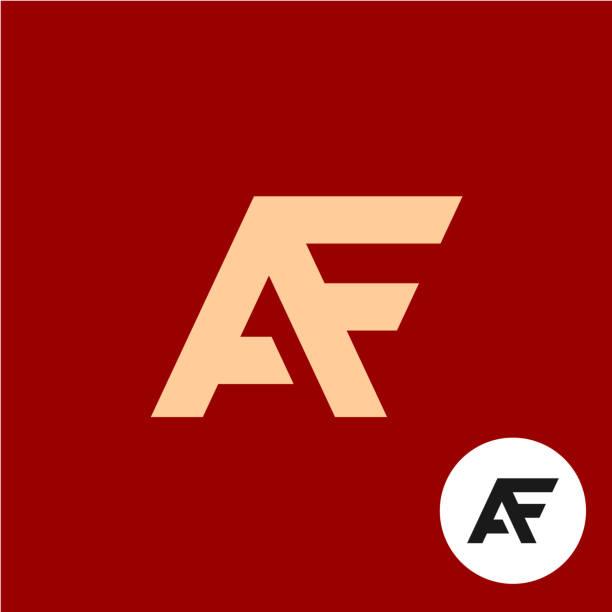 Letter A and F. AF ligature symbol. vector art illustration