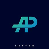Letter A and P Illustration Vector Template. Suitable for Creative Industry, Multimedia, entertainment, Educations, Shop, and any related business.