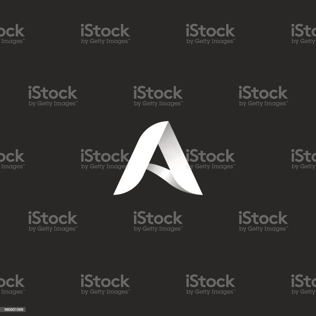 Siyah ve beyaz gradyan stilini tipografi tasarım şablonu öğesi mektup. 3D şerit kimlik simgesi. vektör sanat illüstrasyonu