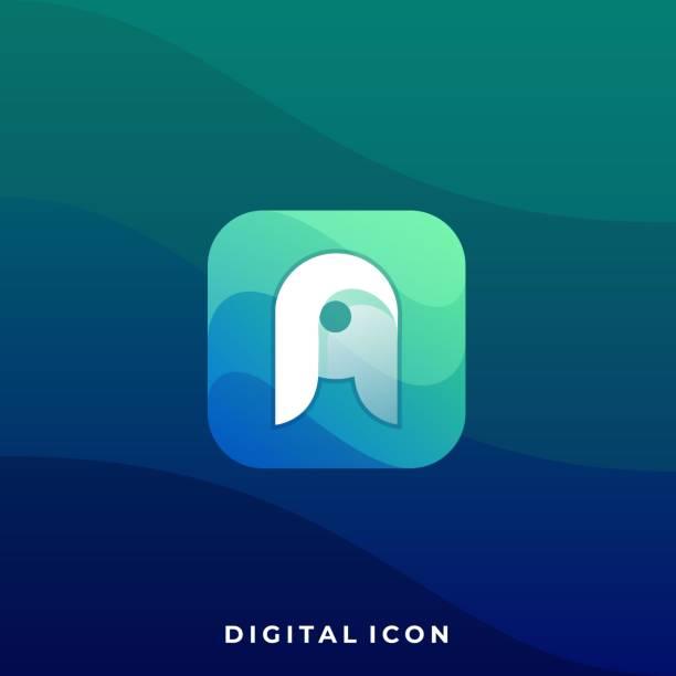bildbanksillustrationer, clip art samt tecknat material och ikoner med brev en färgstark illustration vektor designmall - social media post template