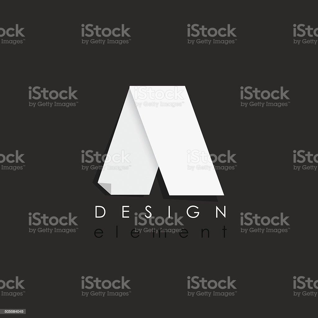 letter a design element in flat design style for business vektör sanat illüstrasyonu