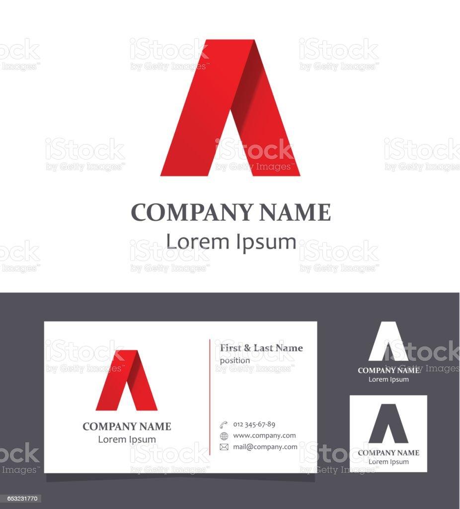 A harfi - kartvizit ile tasarım öğesi - illüstrasyon vektör sanat illüstrasyonu