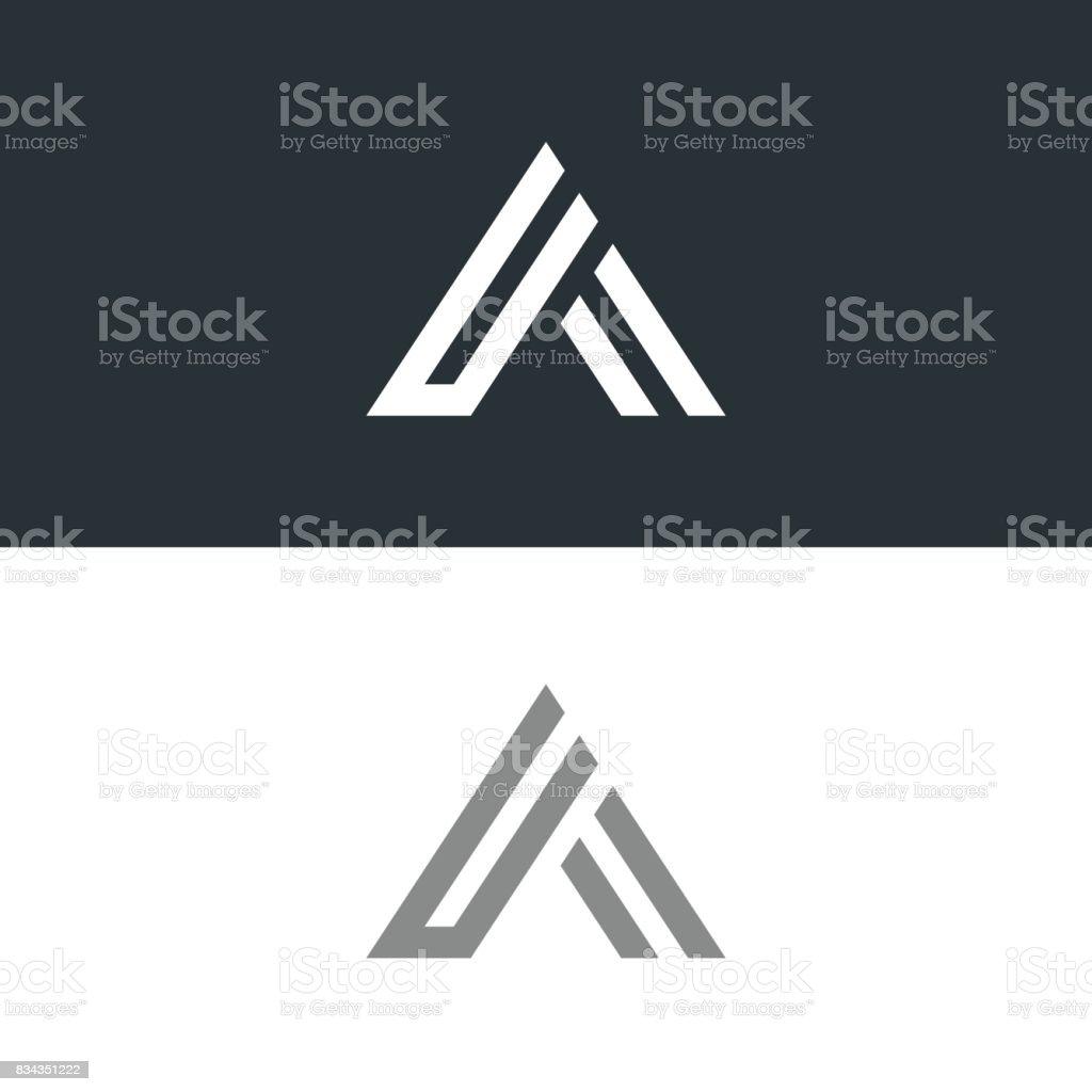 A harfi simgesi tasarım şablonu öğeleri vektör sanat illüstrasyonu