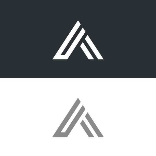 letter a  icon design template elements - alphabet symbols stock illustrations