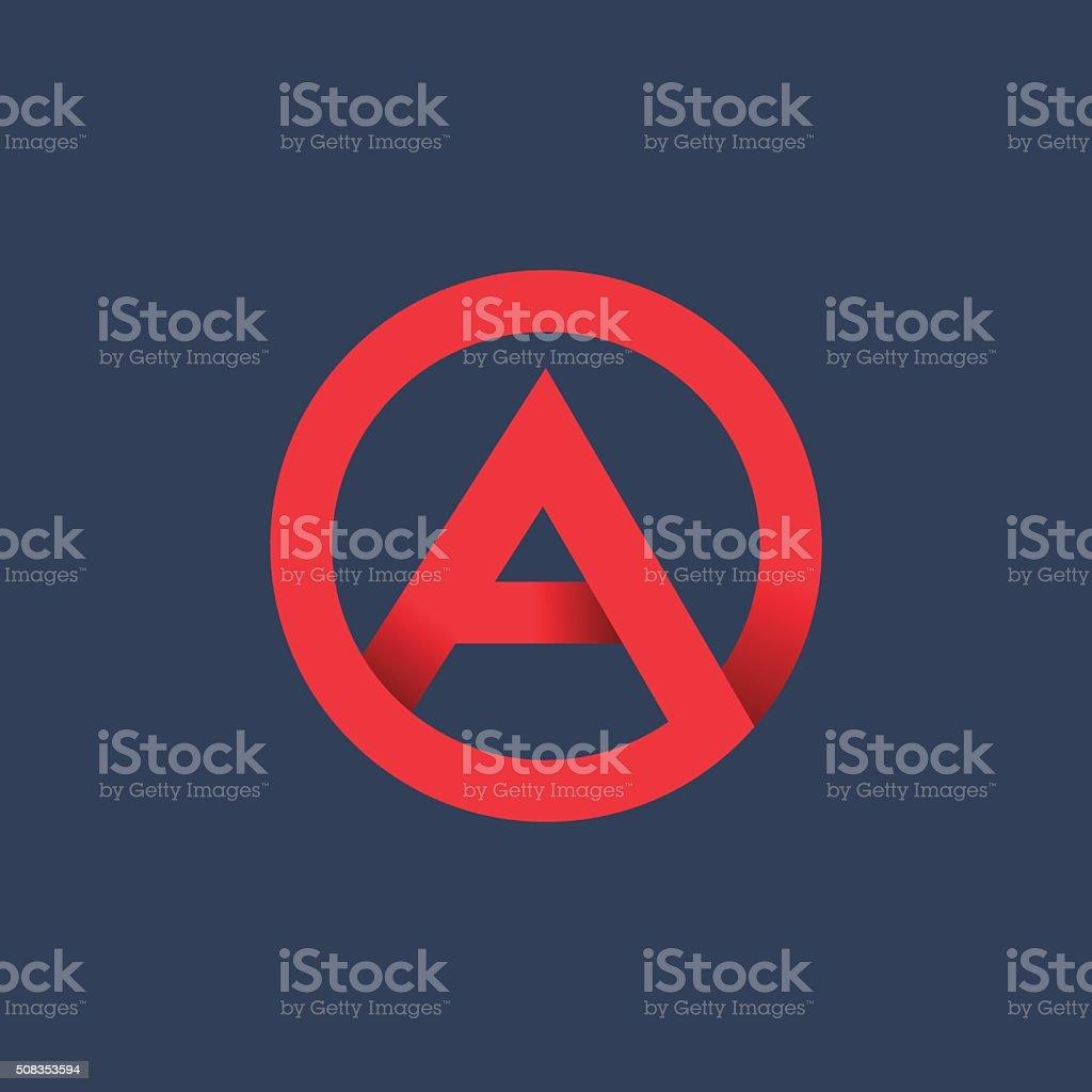 Letter A icon vektör sanat illüstrasyonu