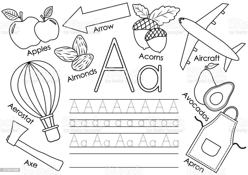 Letter A Learning English Alphabet With Pictures And