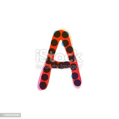 istock Letter A logo handwritten with a red felt-tip pen. 1269555582