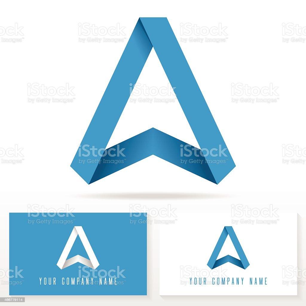 Letter A logo icon design template elements - Illustration vektör sanat illüstrasyonu