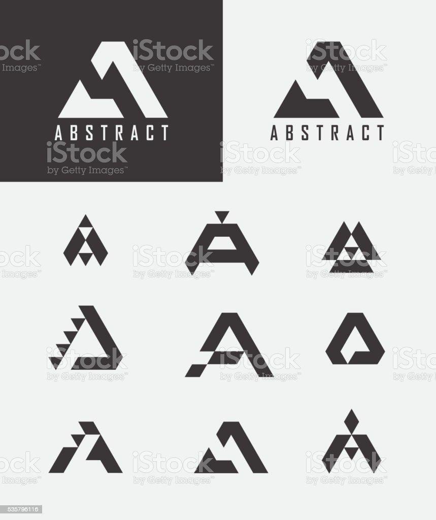 Letter A logo icon design template elements. vektör sanat illüstrasyonu