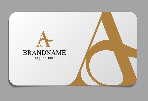 Letter A Logo on business card