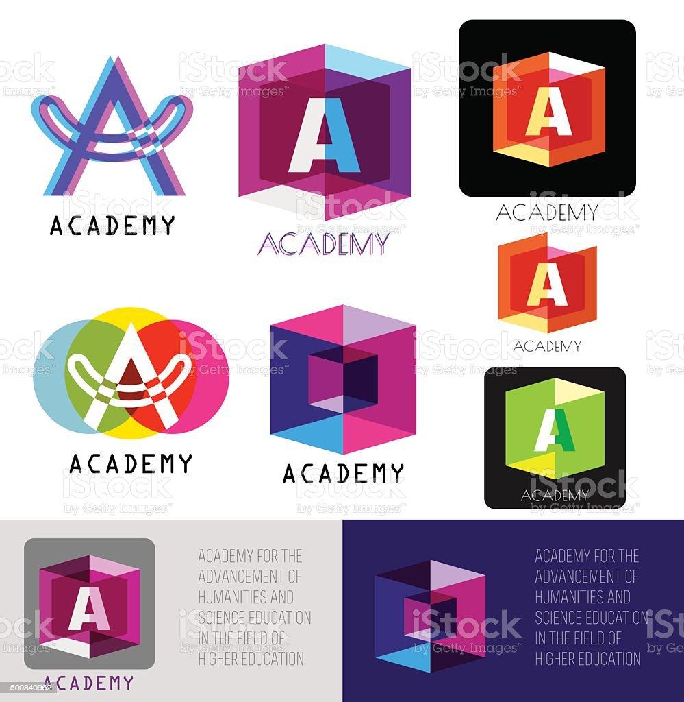 Letra un logotipo. Plantilla de carta A. - ilustración de arte vectorial