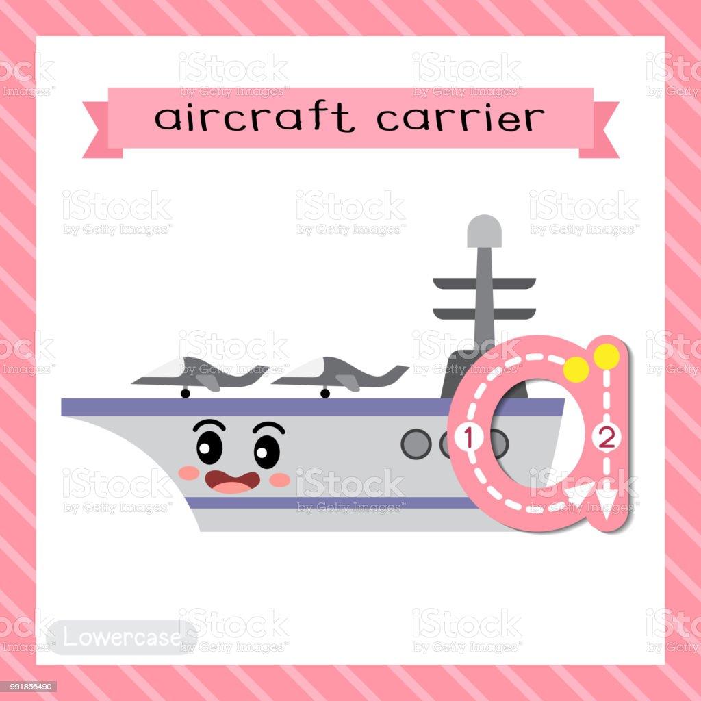 Buchstabe A Kleinbuchstaben Ablaufverfolgung Flugzeugträger Stock ...