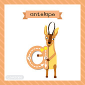 Letter A lowercase tracing. Antelope