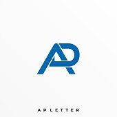 Letter A R Illustration Vector Template. Suitable for Creative Industry, Multimedia, entertainment, Educations, Shop, and any related business.