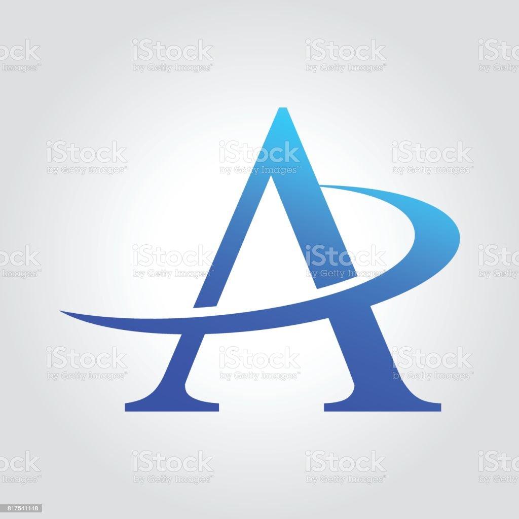 A harfi stil tipografi tasarım şablonu vektör sanat illüstrasyonu