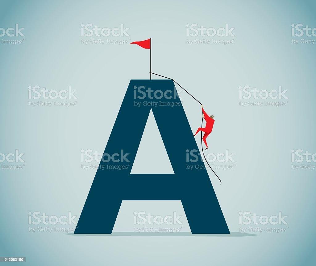 Letter A vector art illustration