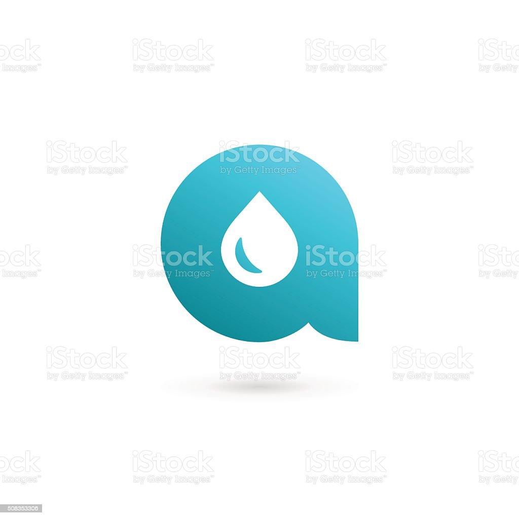 Letter A water drop icon design template elements vektör sanat illüstrasyonu