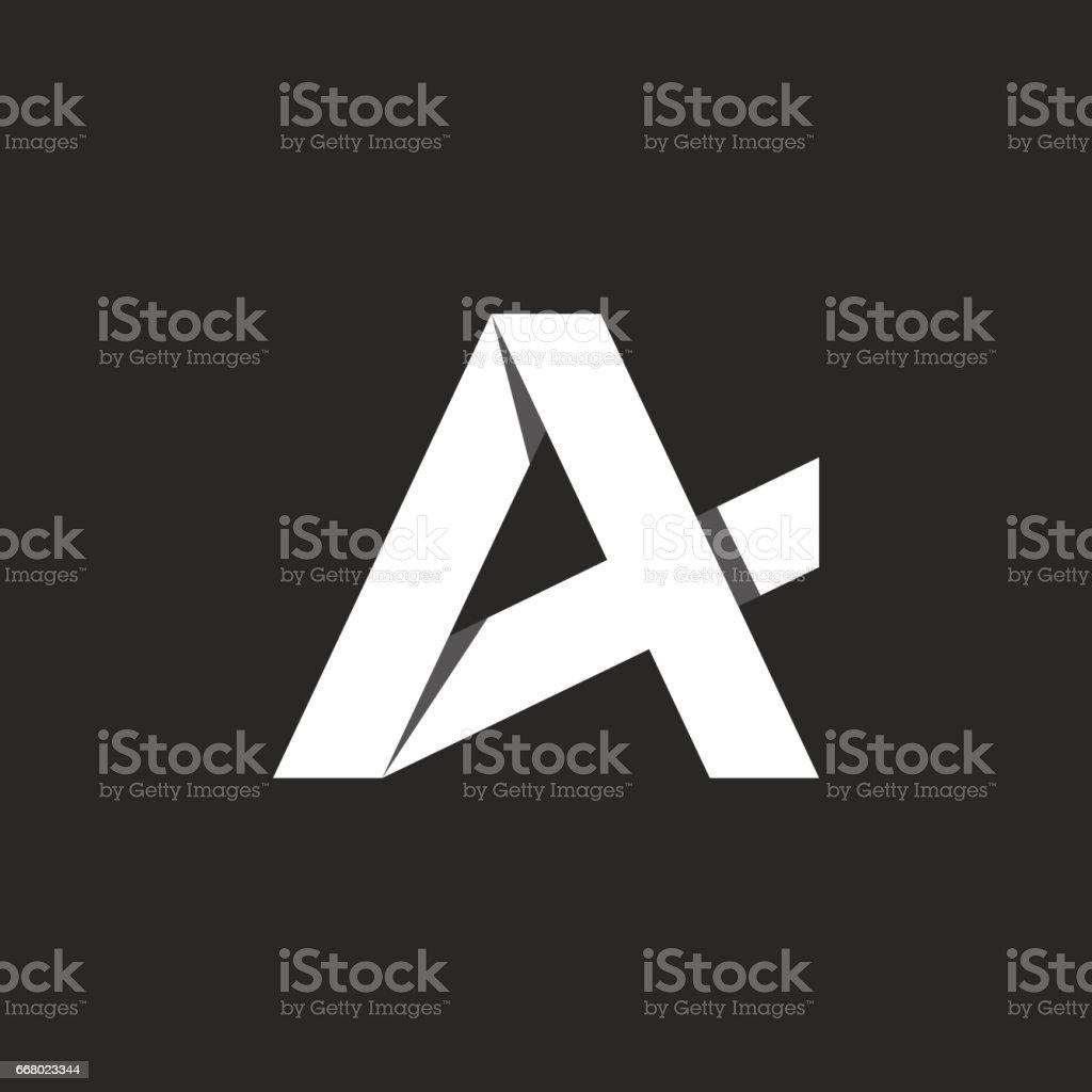 mektup soyut simgesi, siyah ve beyaz simgesi vektör sanat illüstrasyonu