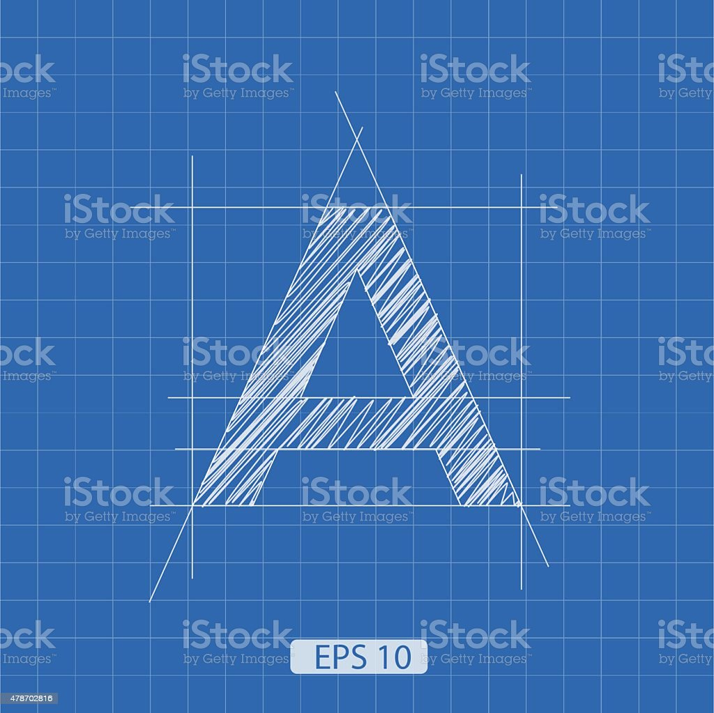 letter architectural plan vector art illustration