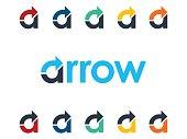 A letter arrow icon