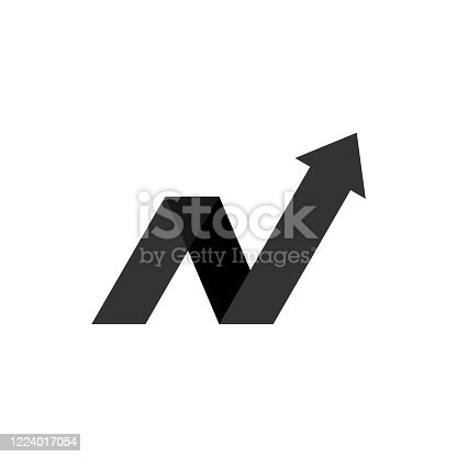istock N Letter Arrow Logo Template Illustration Design. Vector EPS 10. 1224017054