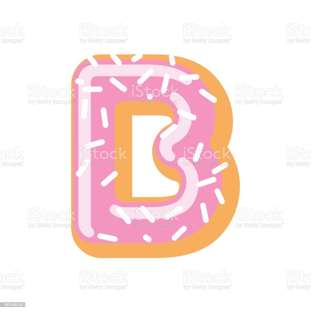 Letter B Donut Font Doughnut Alphabet Sweet Lettering Candy Abc Sign ...