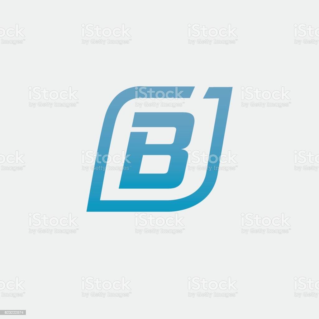 Mektup b öğesi tasarım vektör sanat illüstrasyonu