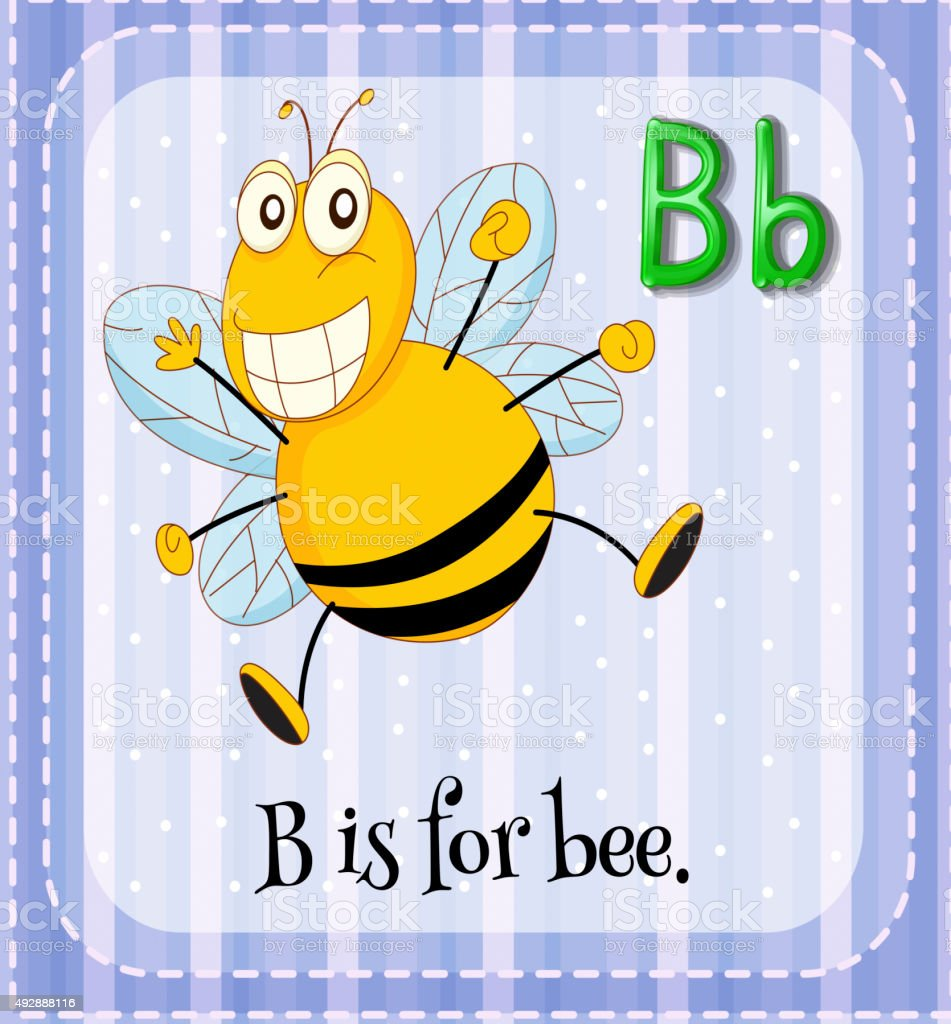 letter b for bee royalty free stock vector art