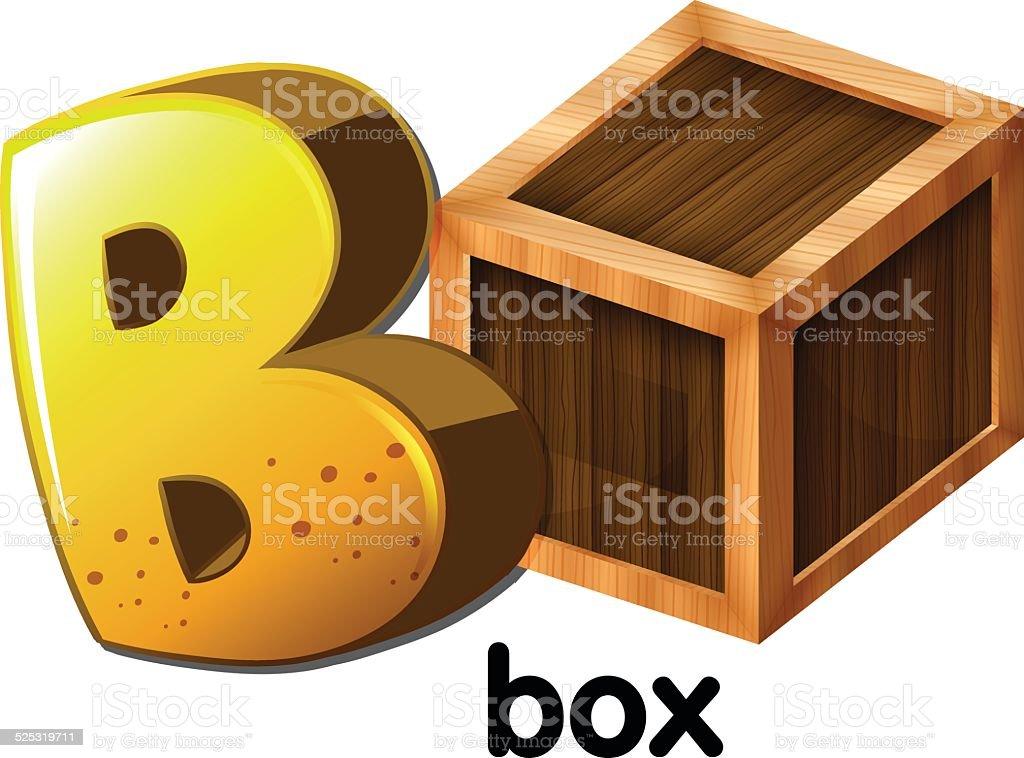 Letter B for box vector art illustration