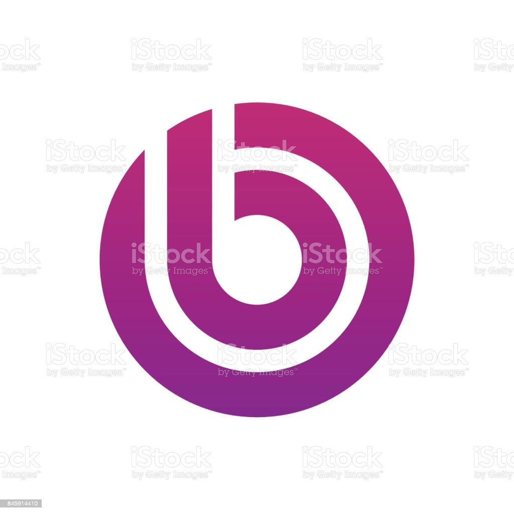 letter B icon concept vector art illustration