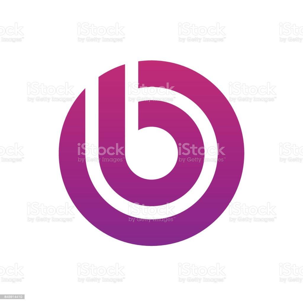 B harfi simgesi kavramı vektör sanat illüstrasyonu