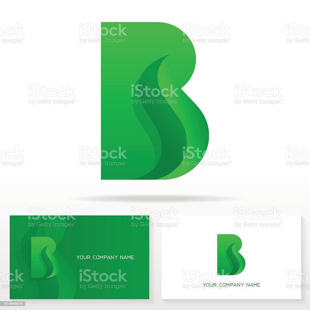 Letter B icon design template. vektör sanat illüstrasyonu