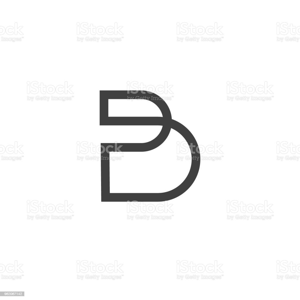 Letter B icon symbol design template sign type vector art illustration