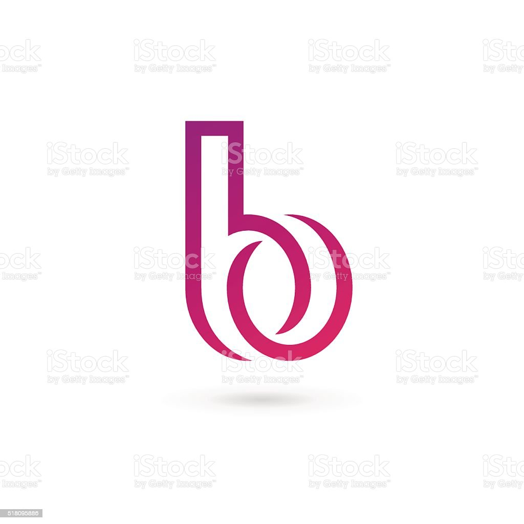 Buchstabe B icon design-Vorlage Elemente – Vektorgrafik