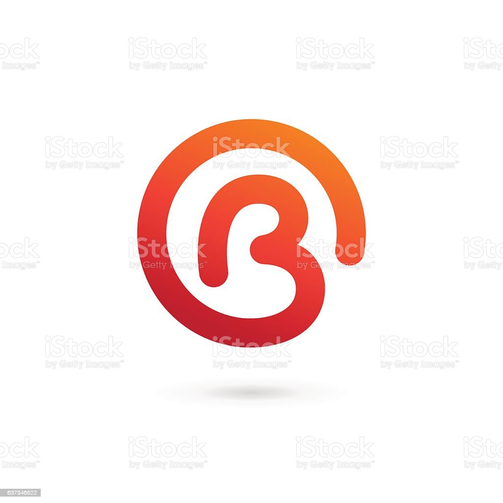 Letter B icon – Vektorgrafik