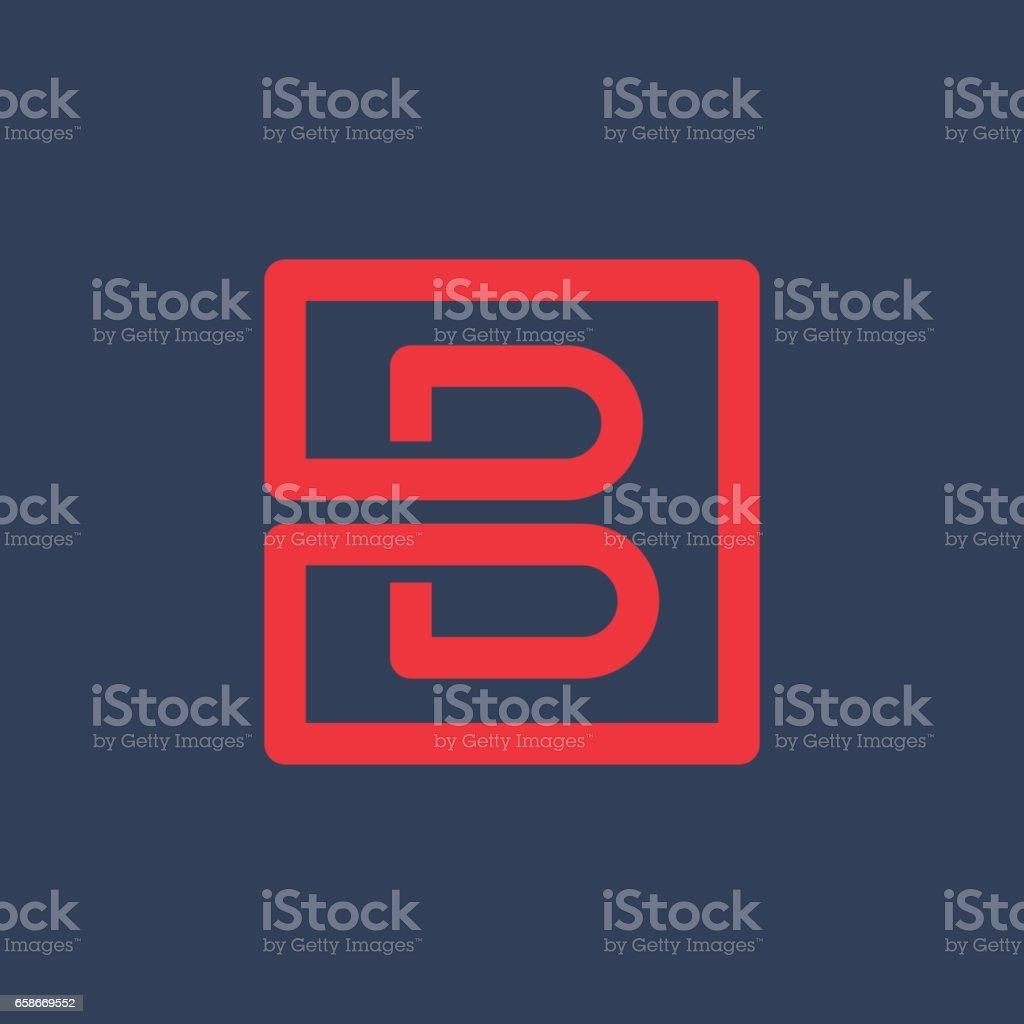 B harfi simgesi vektör sanat illüstrasyonu