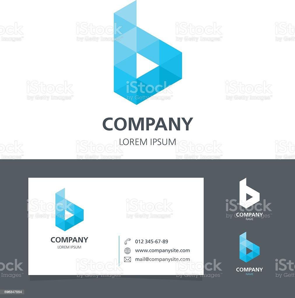 Letter B Logo Design Element With Business Card Illustration stock ...