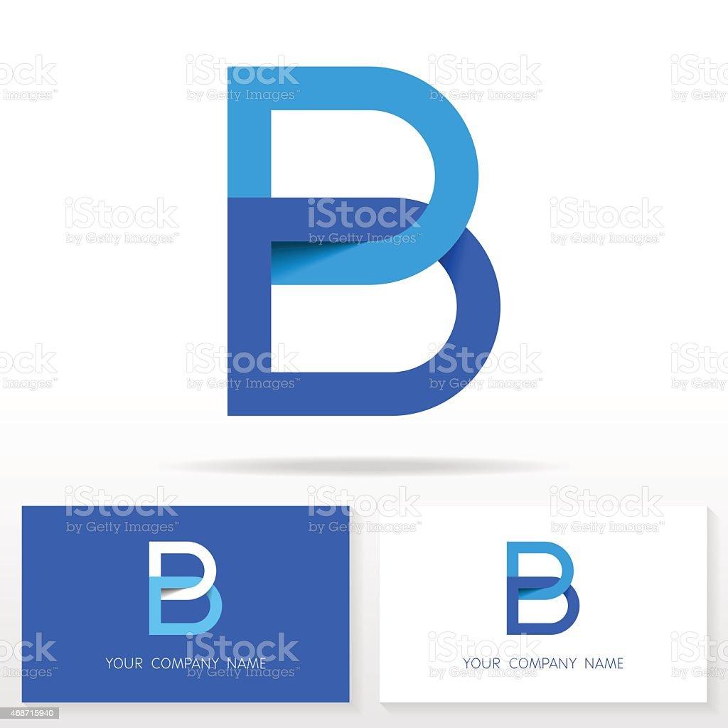 Letter B logo icon design template elements - Illustration vektör sanat illüstrasyonu