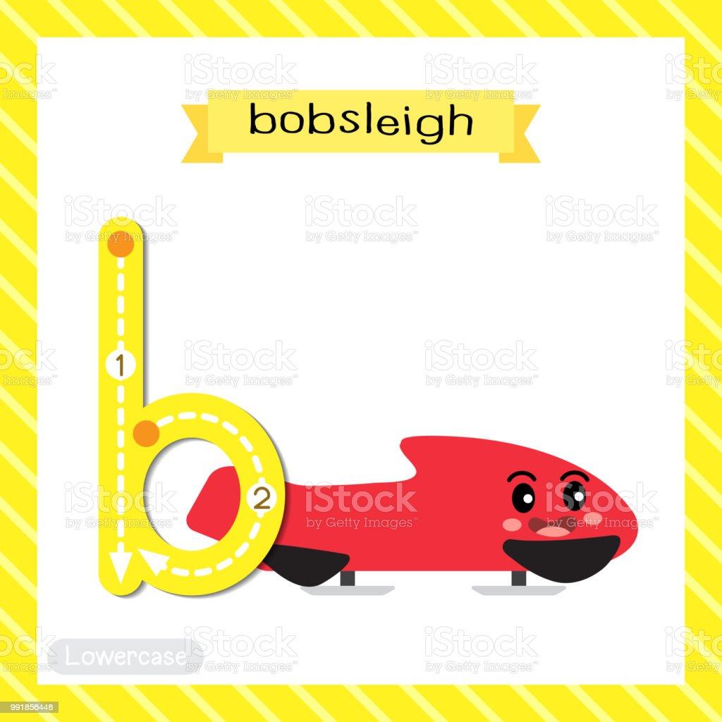 Buchstabe B Kleinbuchstaben Ablaufverfolgung Bob Stock Vektor Art ...